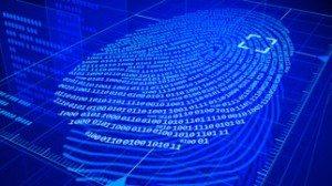 Digital fingerprint identification system using 0's and 1's like binary data.