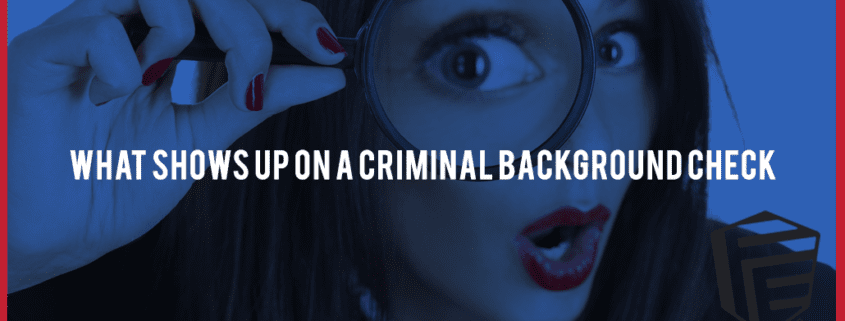 Whats on a criminal background check