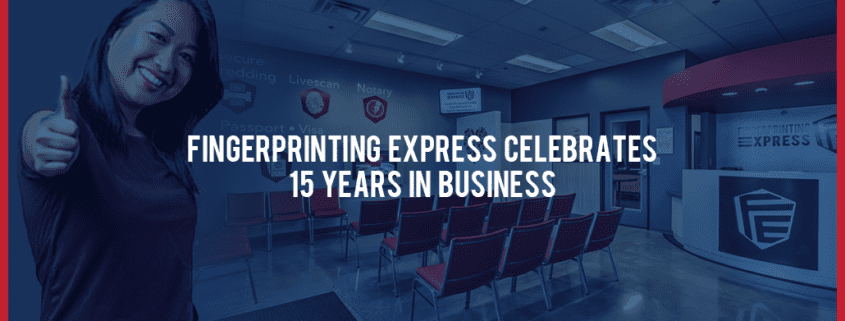 fingerprinting express celebrates 15 years in business